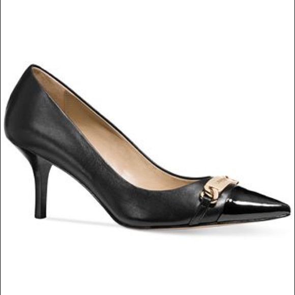 5aef359ff90 Coach Shoes - Coach Bowery Black Leather Kitten Heel Pumps 7 B
